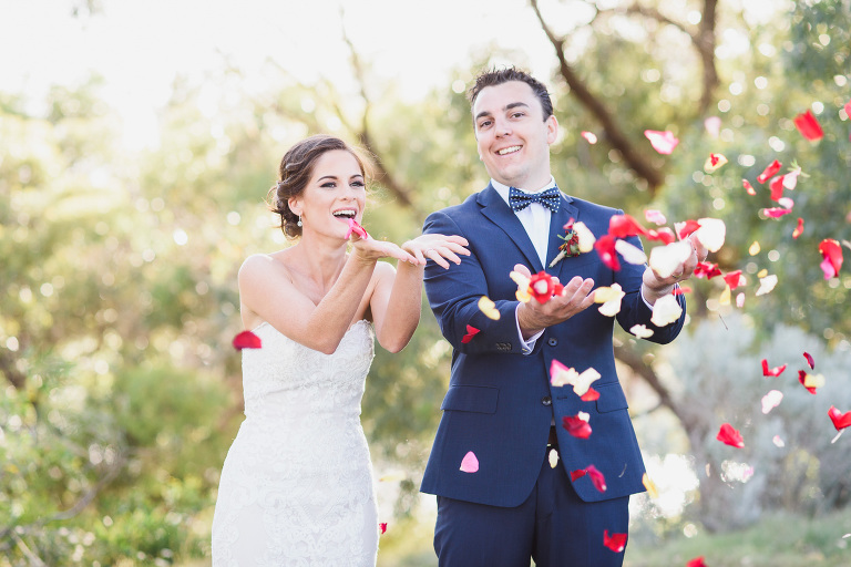 Joondalup Resort Wedding Photography by Melissa's Photography with Fun Bridal Portraits