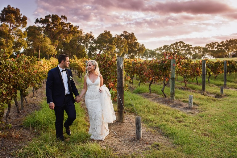 Gorgeous Sandalford Winery Perth Swan Valley Sunset Portrait by Melissa's Photography