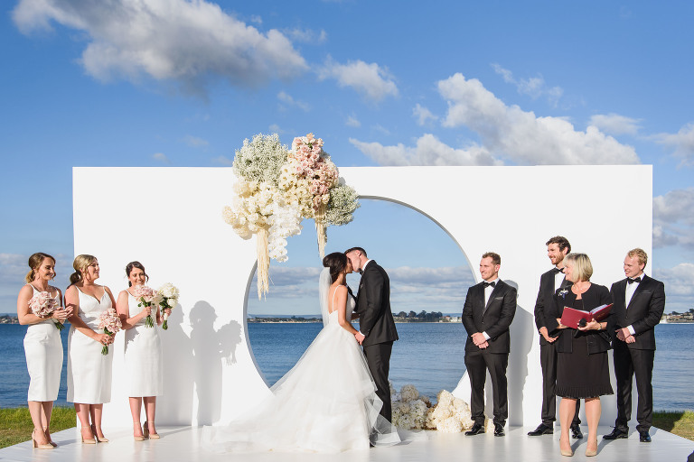 Epic Wedding Ceremony at Nedlands Yacht Club Perth by Melissa's Photography