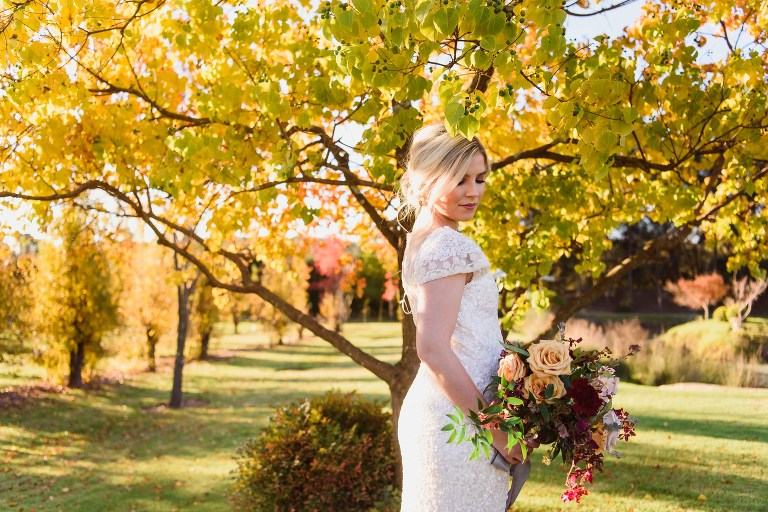 Beautiful CORE Cider House Wedding Bride Portrait by Melissa's Photography
